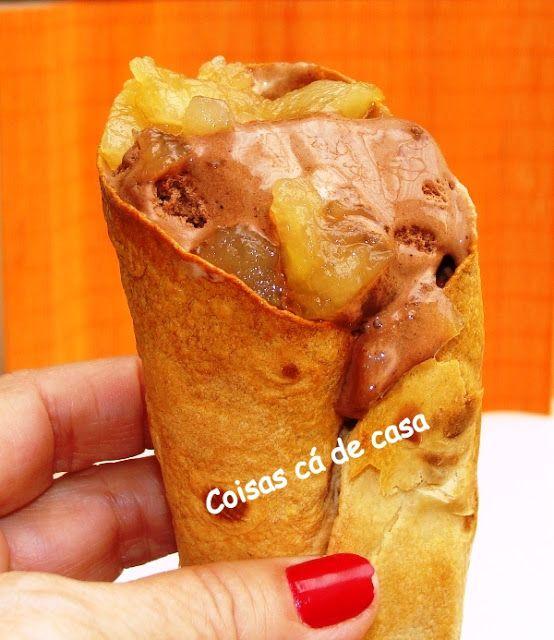 Coisas cá de casa: Casquinha para sorvete com pão wrap