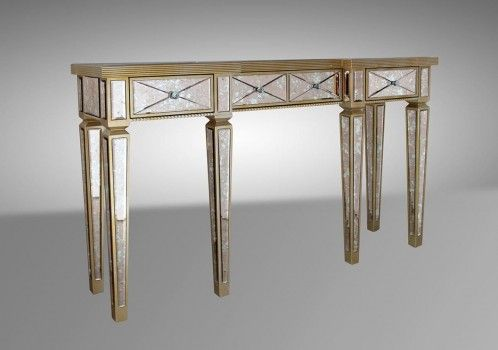 Harmon - Transitional Mirrored Console Table