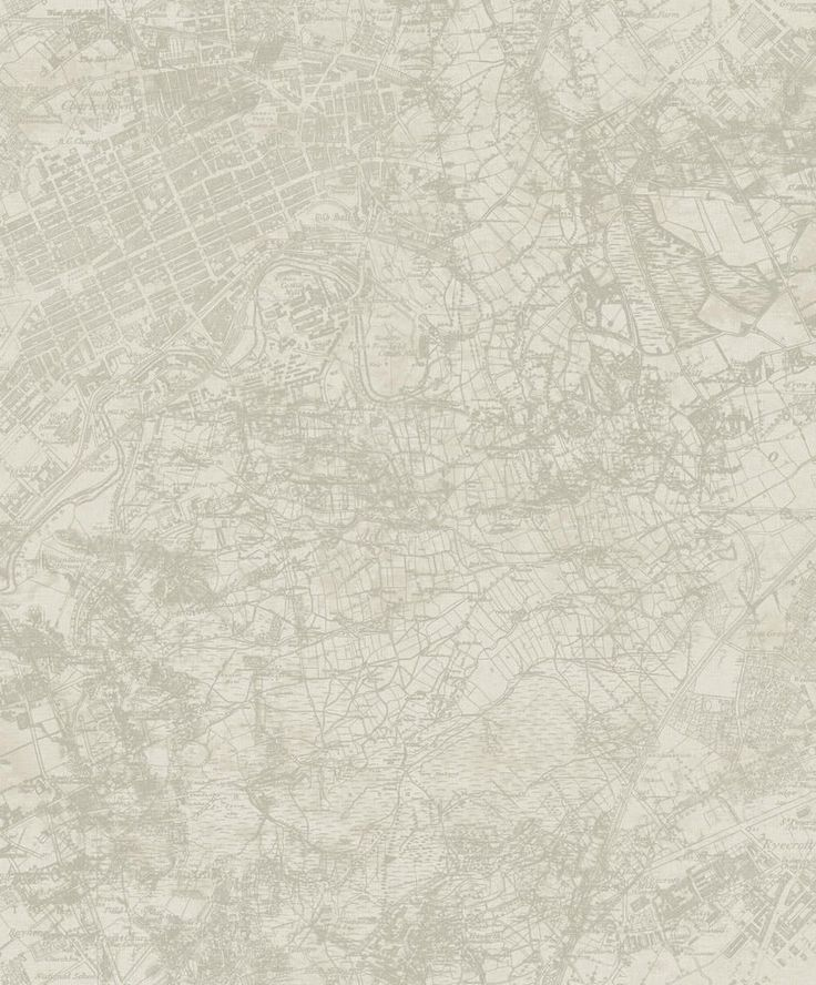 Vintage Map Off White wallpaper by Albany