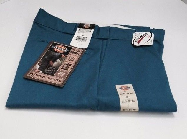 "Dickies Men's Work Shorts 13"" Inseam Loose Fit Size 32 Blue (RN) #Dickies #CasualShorts"