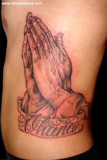 Tatuaje de Manos de Oracion 1