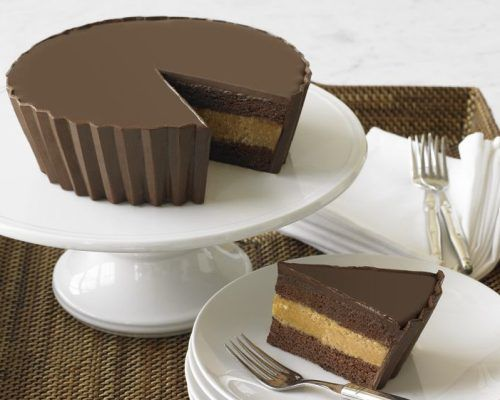 Peanut butter cup cake... in a Peanut butter cup shape. That is all.