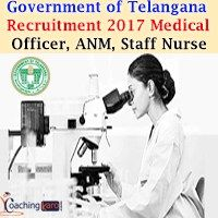Government of Telangana Recruitment 2017 | 671 Medical Officer, ANM, Staff Nurse & Various Vacancies | Jobs in Revenue Department