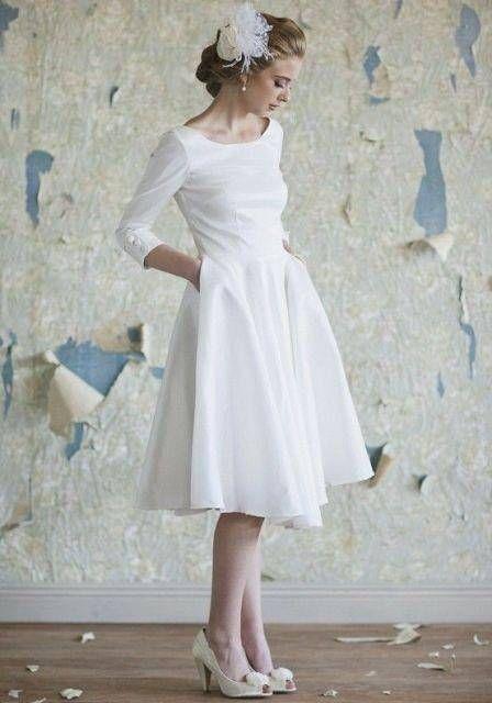 Κοντά λευκά νυφικά φορέματα | Jenny.gr
