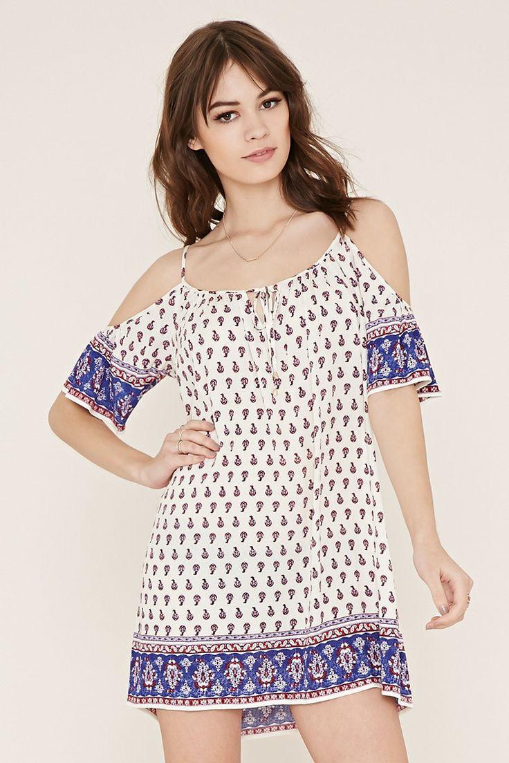 Open-Shoulder Peasant Dress | Forever 21 - 2000169934