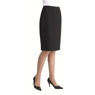 The Europa Vienna Ladies Corporate Pencil Skirt, is a traditional styled garment which can be worn in the office or as part of a smart casual outfit. Features a rear centre vent.