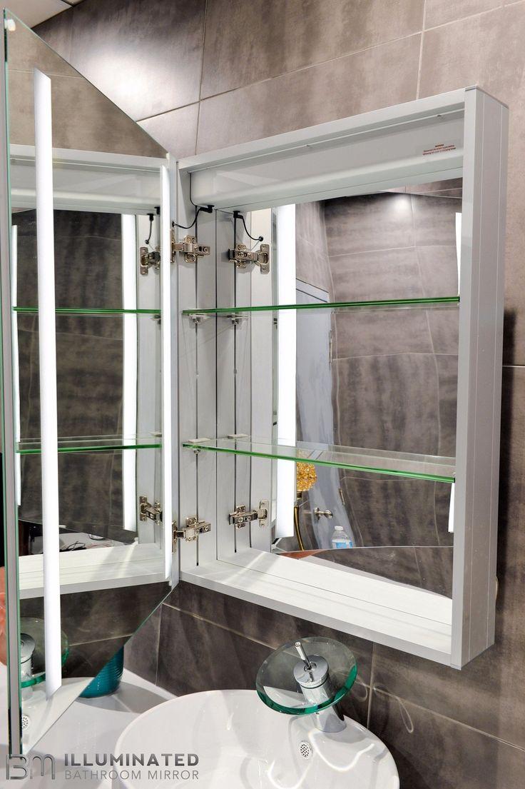 Crystal ledmirror light bubble crystal stainless steel bathroom mirror - Cabinet Verano 24 X 32