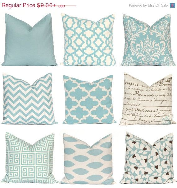 SALE Pillow, Decorative Pillow, Throw Pillow, Pillows, Toss Pillow, Accent Pillow, Pillow Covers, Village Blue Pillows Various Sizes
