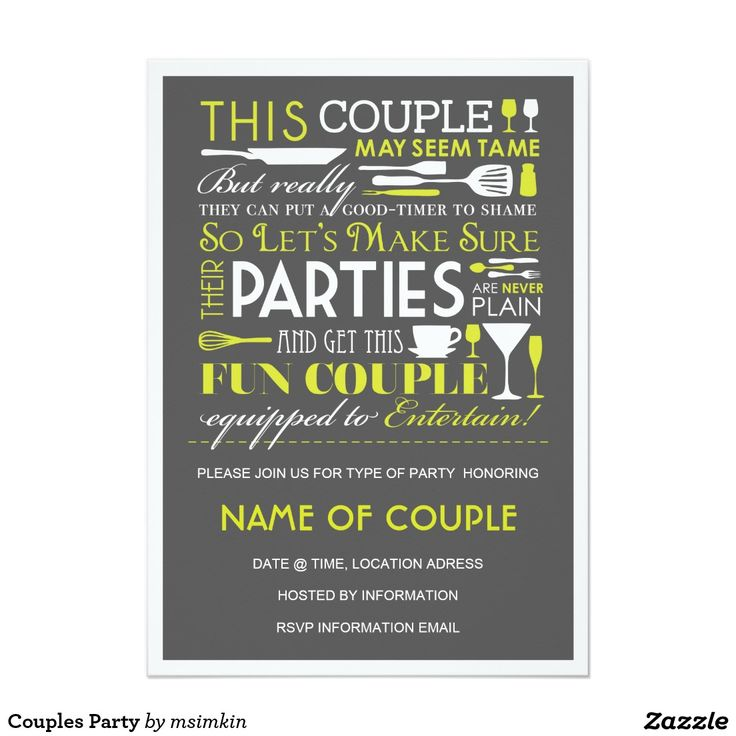 The 73 best zazzle party invitation collection images on pinterest couples party card zazzle invitationsinvitation stopboris Choice Image