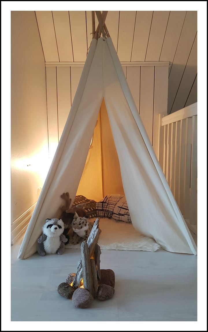 http://starbox.fi/pappila/leirinuotiolla DIY bonfire, kidsroom