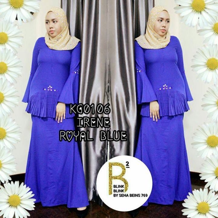 Sangat Trendy  Super Selesa   Merecik  .  KG0106 KURUNG IRENE    (TOP & SKIRT)  .  .  Round neck  Hidden zipper in front   Trumphet Sleeve   Accessories Chunky Beads at Sleeve and Front Top  .  Material Quality Moss Creepe  Cooling and Comfy  Skirt with full lining  .  Free Size fit to M  Shoulder 13in  Bust 36in  Waist 36in  Hips 38in  Armhole 16in  Sleeve Length 23in  Blouse Length 27in  .  Skirt with full lining & elastic waistband  Waist 30-36in  Hips 38in  Length 42in  .  Harga: RM96…