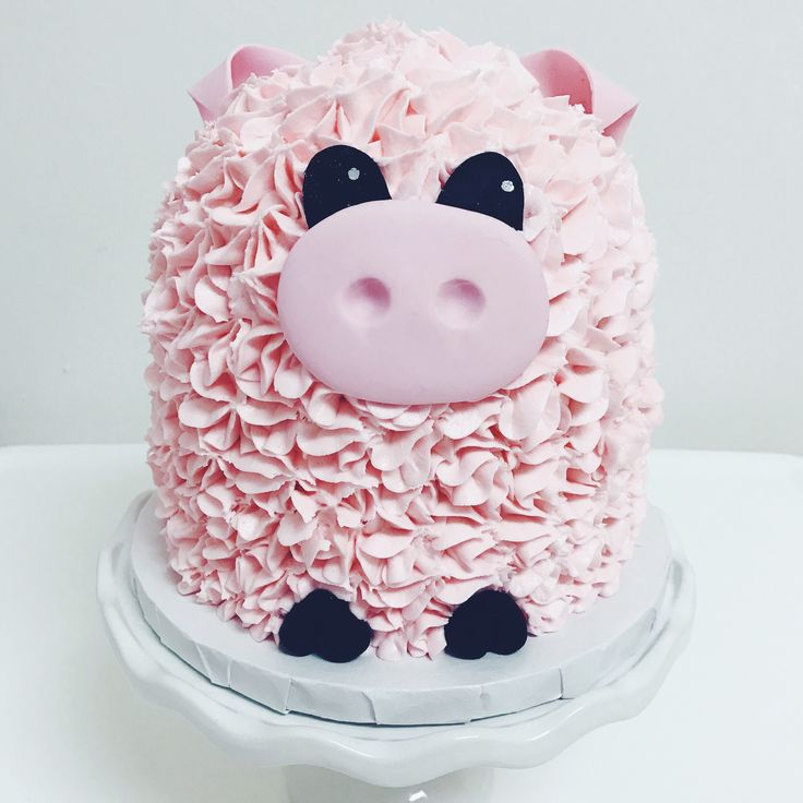 Pig smash cake by Pretty Little Cakes by Lana
