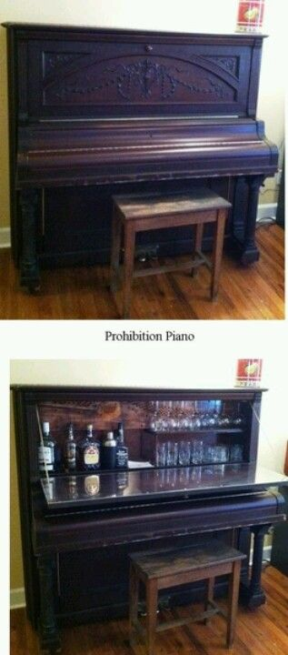 Refurbished piano... how cool is this?  LOVE!!!