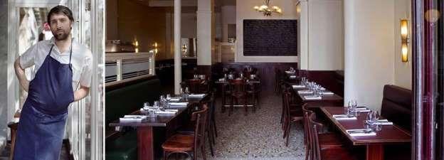 21. Le Chateaubriand in Parijs Chefkok: Inaki Aizpitarte Soort keuken: Modern Frans Signatuurgerecht: Salade van inktvis met asperges, uien, rode bessen en poeder van wakame (soort zeewier)