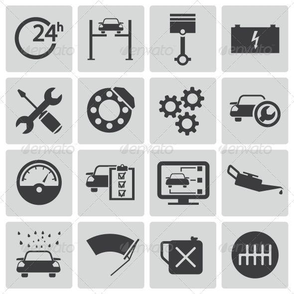Vector Black Car Service Set | Buy and Download: http://graphicriver.net/item/vector-black-car-service-set/6496916?WT.ac=category_thumb&WT.z_author=skarin&ref=ksioks