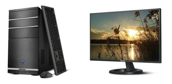 """Medion Multimedia PC System and Medion 27"""" Monitor"""