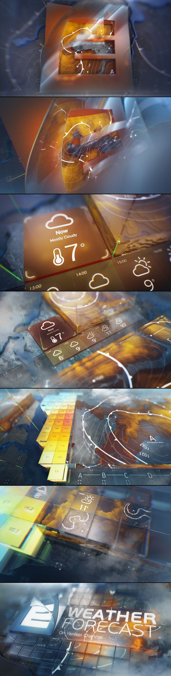 yenisei. weather forecast id. by Serge Aleynikov, via Behance