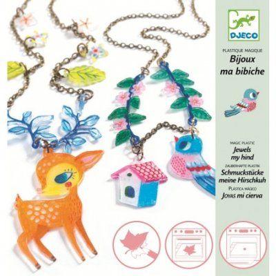 Djeco Magisch Plastic Pauw en vogel sieraden maken