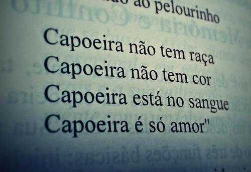 Capoeira doesn't have race.  Capoeira doesn't have color. Capoeira is in the blood.  Capoeira is only love.