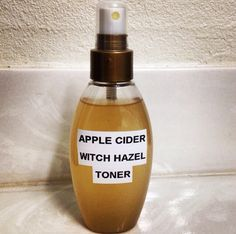 DIY 100% natural PH balancing and acne crushing toner!! Into a container pour equal parts organic Apple cider vinegar and witch hazel. Shake it up and use a cotton ball to Apply to face.