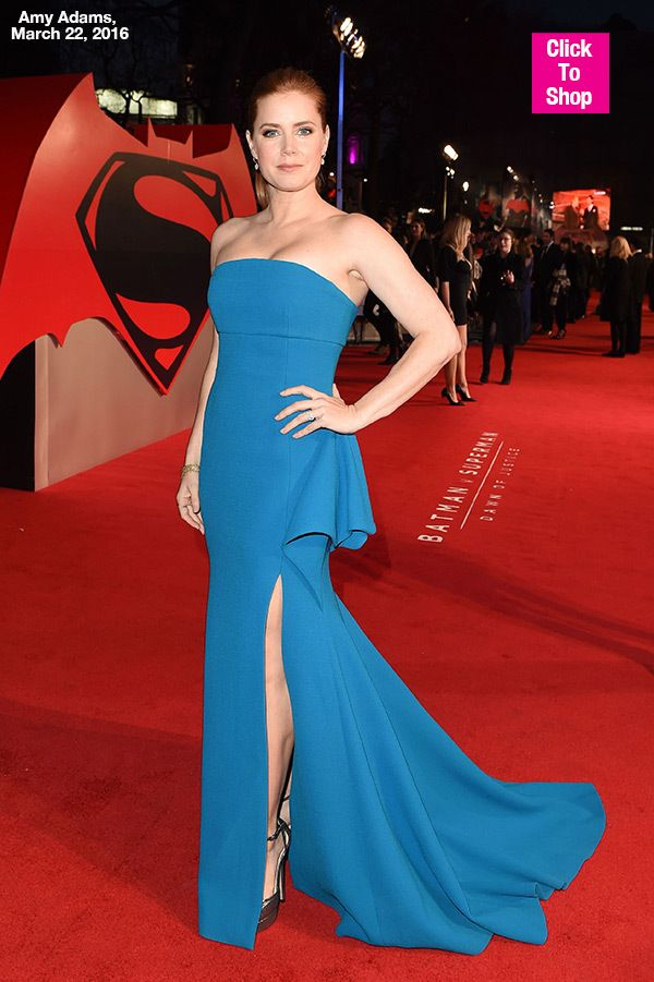 Amy Adams 'Batman V. Superman' Dress: Beautiful In Blue Gown For London Premiere #AmyAdams #BCBG #BlueGown