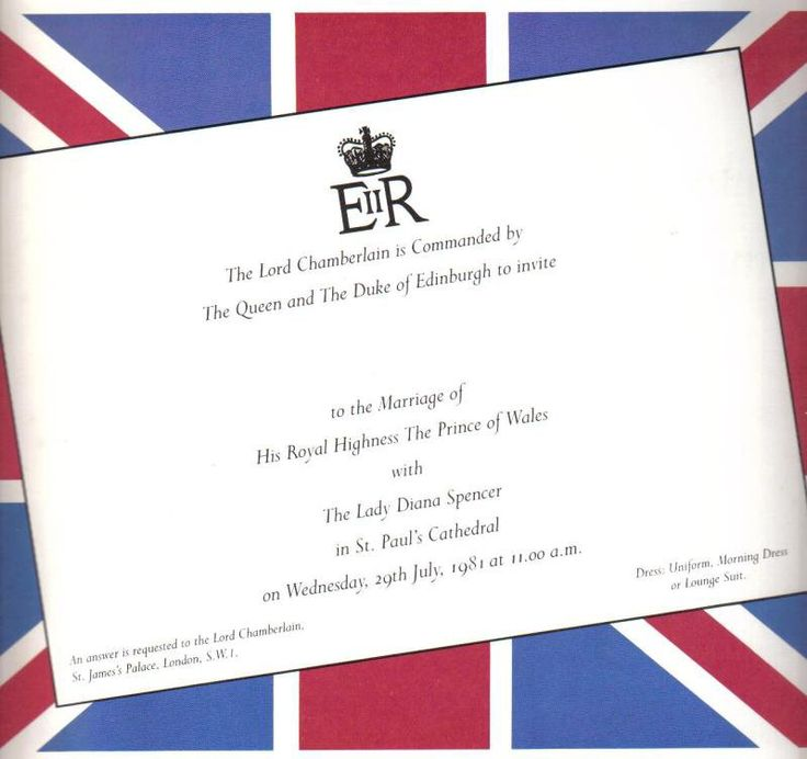 Princess Diana Wedding Invitation: 954 Best Royal Family Of Great Britain And The