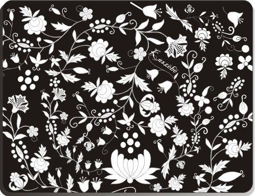 Podkładka pod mysz z haftem kaszubskim (czarna) :: Czec Kaszubskie i pomorskie książki i upominki. Niezwykłe pamiątki ludowe, których jesteśmy producentem.