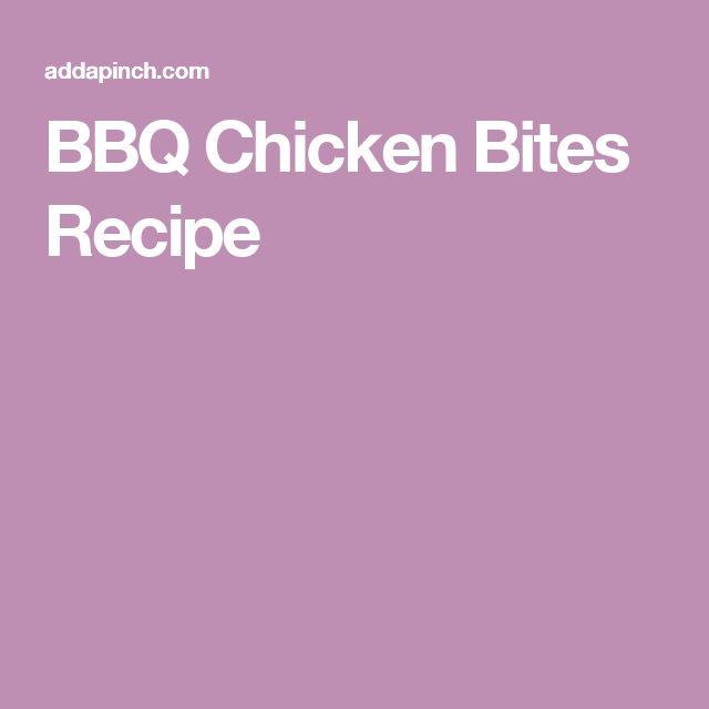 BBQ Chicken Bites Recipe
