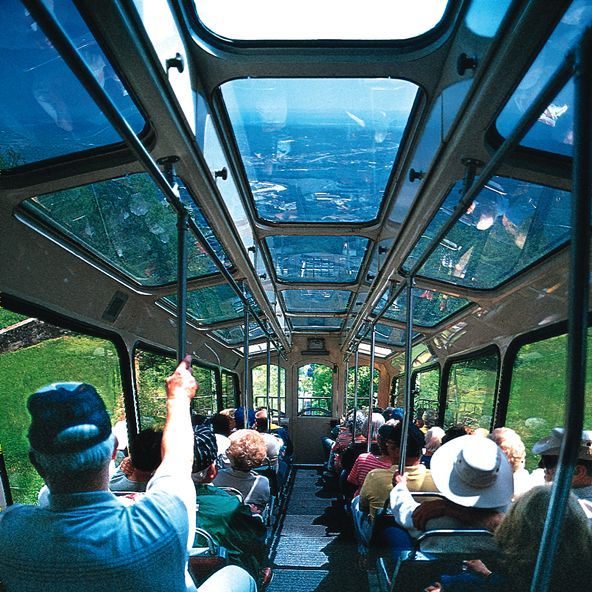 Incline Railway | Lookout Mountain, Chattanooga, TN.  The steepest passenger railway in the world.