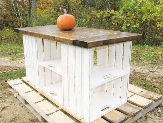 Kücheninsel, Altholz, Bauernhaus, Rustikal, Land, Barnwood, Kistenlagerung