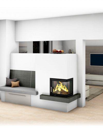 Moderner Kachelofen #kachelofen #modern #ofenbank #wohnzimmer ...