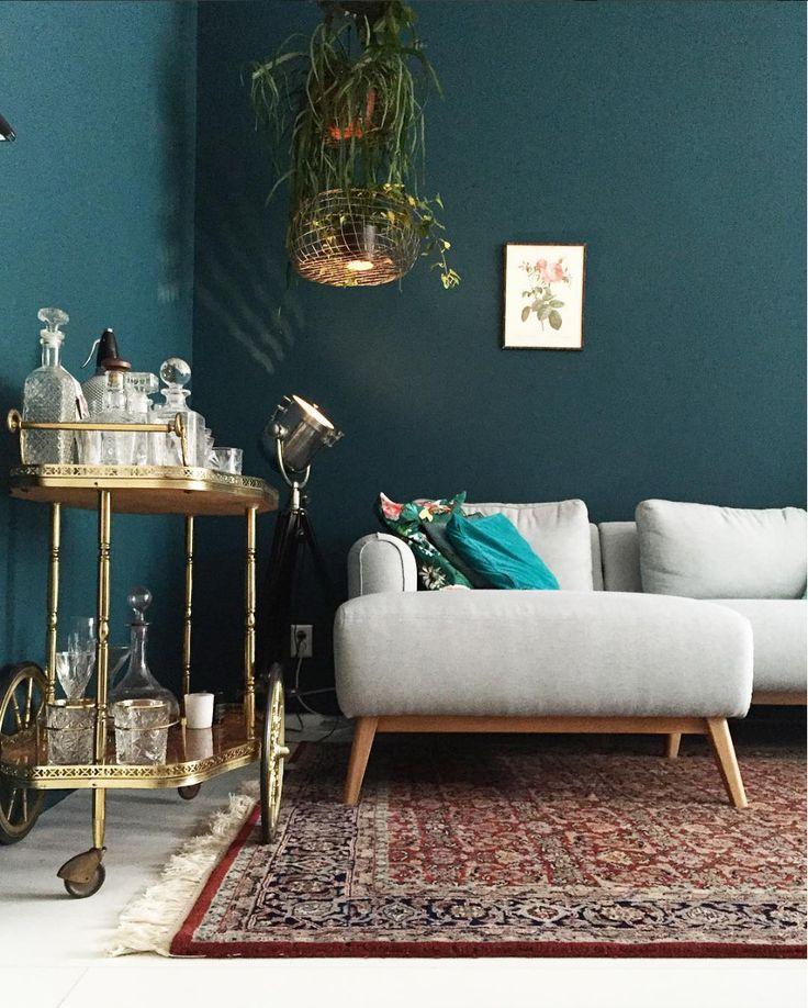 Die besten 25+ Dunkelgrüne wände Ideen auf Pinterest Dunkelgrüne - anana designer sitzmobel weicher stoff aqua creations
