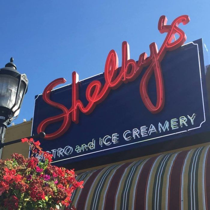 Shelby's is located in the busy West Seattle Junction. You'll know it by the big red sign.