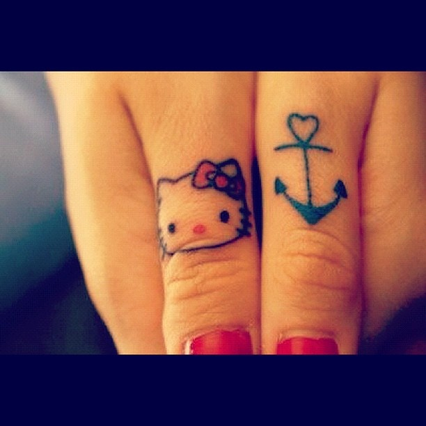 213 best hello kitty images on pinterest hello kitty for Finger tattoo care instructions