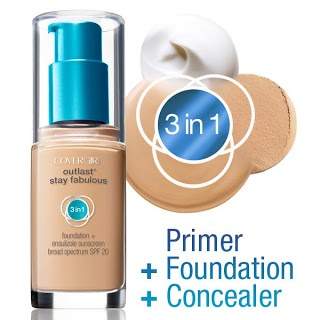 $1 Off COVERGIRL Outlast 3 in 1 Foundation Printable Coupon - got my coupon, now I'm just waiting for the next sale to price match at walmart and then it's mineee!