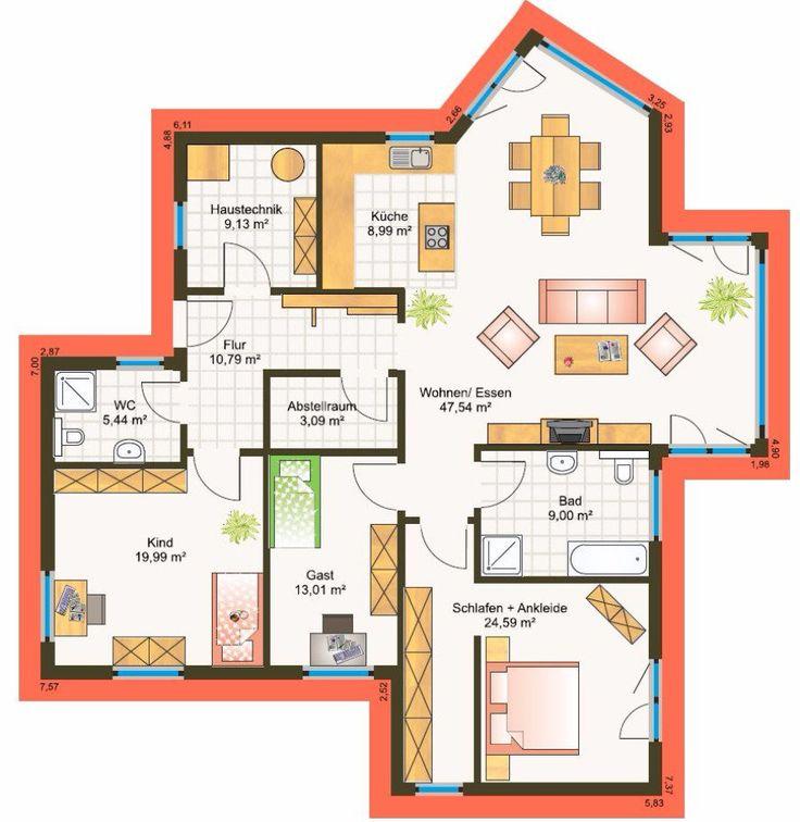 oltre 1000 idee su fertighaus bungalow su pinterest bungalow haus bungalow. Black Bedroom Furniture Sets. Home Design Ideas