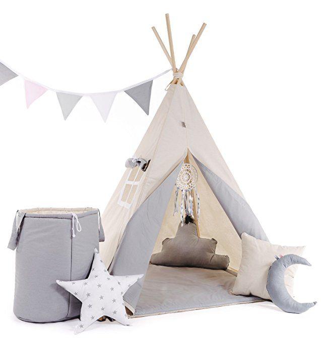 Tipi Teepee Spielzelt Zelt Kinder Indianerzelt kinderzelt Babyzelt Spielhaus