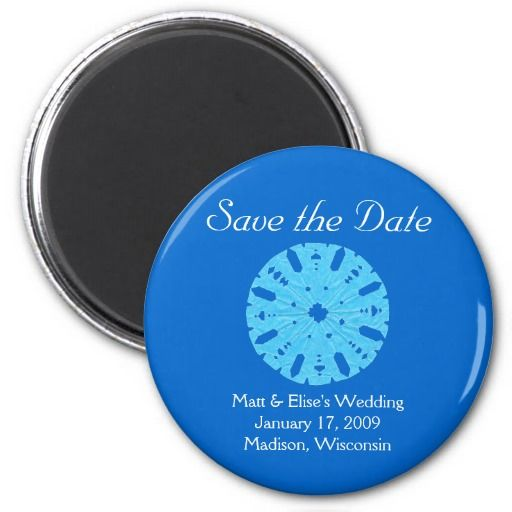 17 Best images about Winter and Snowflake Save the Date on – Winter Wedding Save the Date Magnets