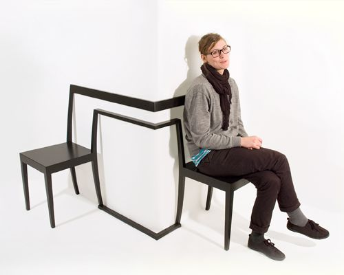 Creative Round-the-Corner Chair: Hörnstol ~~~ interesting pair of chairs!