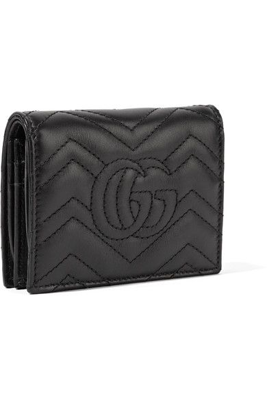 Gucci - Gg Marmont Small Quilted Leather Wallet - Black - one size