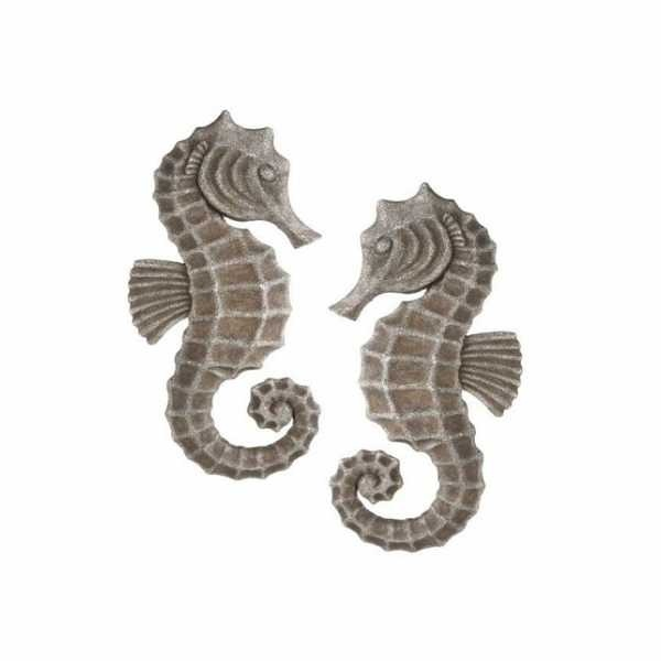 Polystone Seahorse Wall Decor Set Of 2