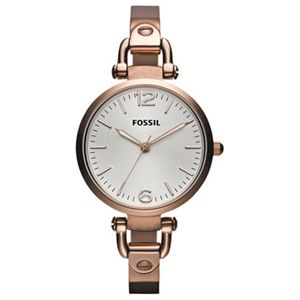 Fossil - Georgia Stainless Steel Watch - Watches (Rose)
