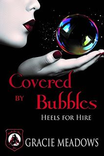 Covered By Bubbles: (Heels For Hire Inc) #amreading #books #erotica  https://www.amazon.com/dp/B01KE8OP6W    Brandie Bubbles Anderson is always alert and ready to tackle any case. However when a case she is involved in crosses over with the local PDs Brandie finds herself working with two cops who threaten her independence.Chance and Dylan have been friends since the beginning days at the academy and now are partners at the Ridgeville Police department. After a series of thefts take place…