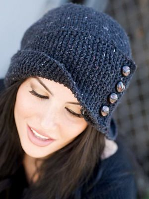 Chapéus da moda 2015: Foto de moda feminina de malha chapéus para o inverno 2015