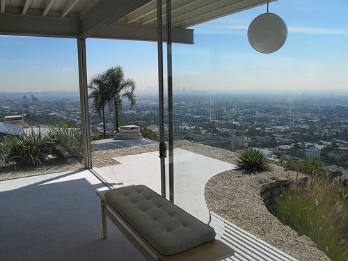 Stahl House  Case Study House by Pierre Koenig   floor plan Los Angeles Magazine