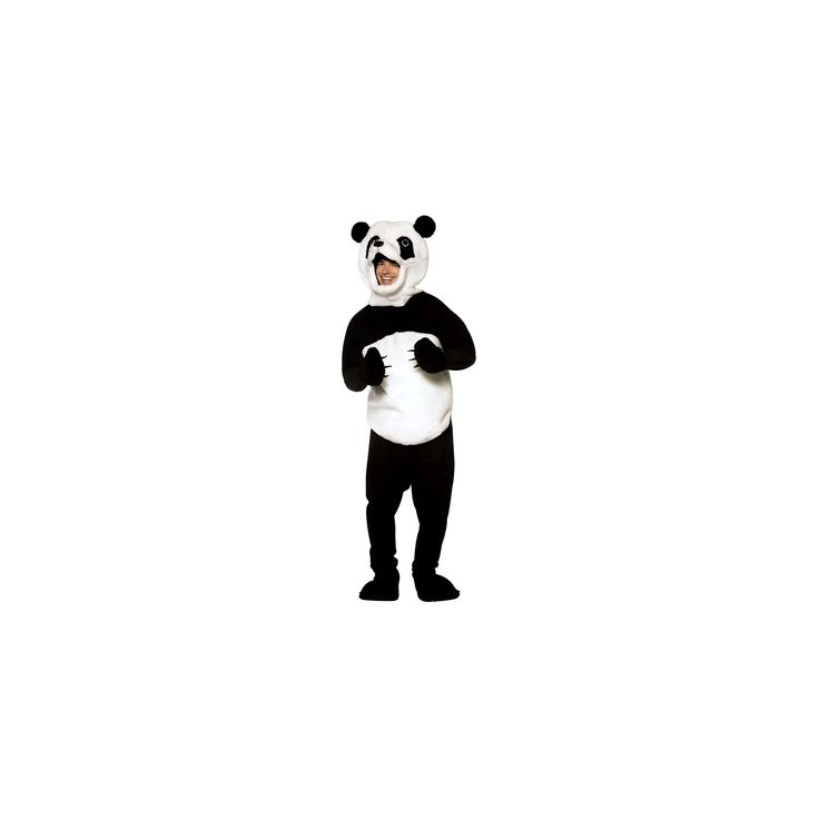 Halloween Adult Panda Costume Black/White One Size Fits Most, Adult Unisex