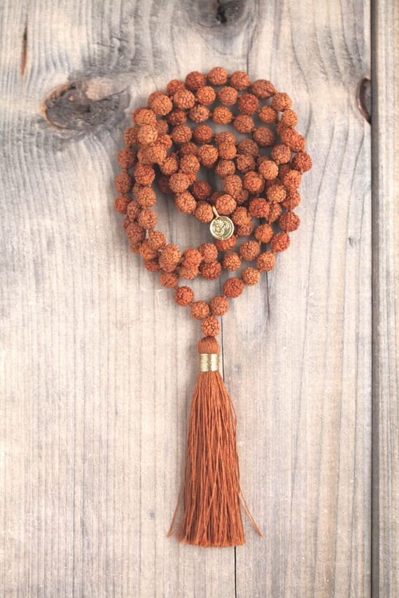 Mala/Rudraksha/Seeds/Brown/Tassel/Golden/Gold/Meditation/For
