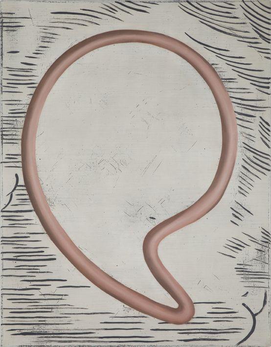 Anne Neukamp - Untitled, oil, egg tempera, cotton, 90 x 70 cm, 2012. Photo: Ludovic Jecker