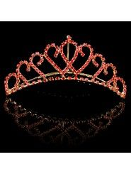Alloy with Rhinestiones Wedding Bridal Tiara/Combs (Two Colors)