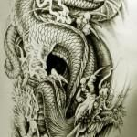 Oriental Dragon Tattoo Style (23)
